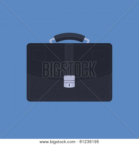 Briefcase on Blue background