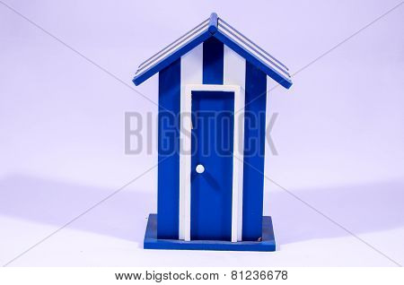 Beach Cabin White and Blue Dressing Room