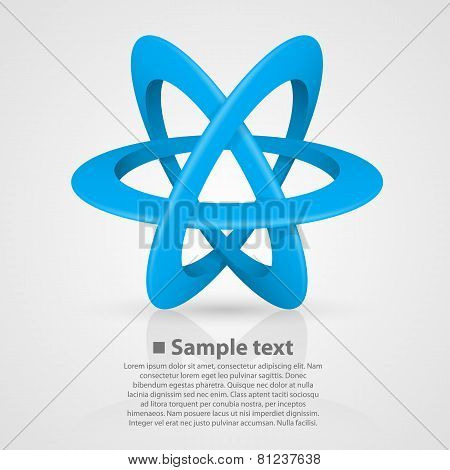 Atom symbol on a white background