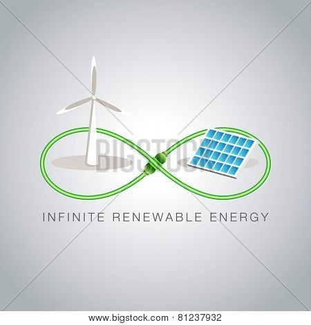 An image representing wind and solar energy creation.