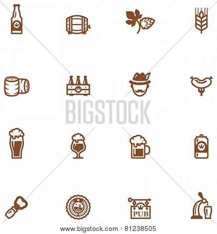 Set of the beer  related icon