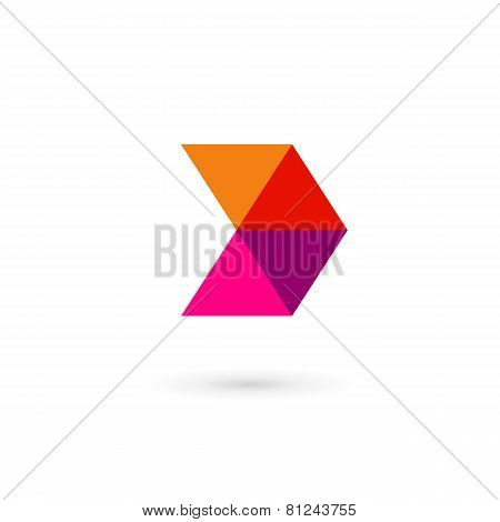 Letter D Mosaic Logo Icon Design Template Elements