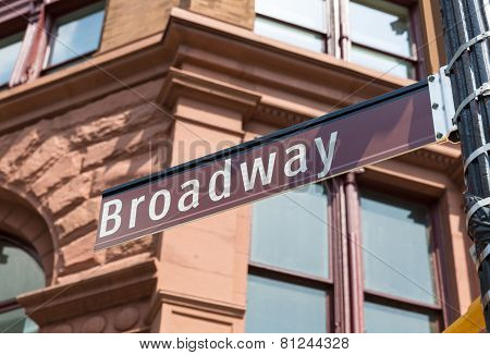 Broadway Street sign in Soho Manhattan New York city USA