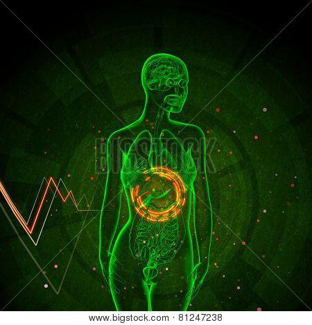 3D Render Medical Illustration Of The Adrenal