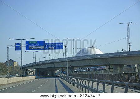 Road Infrastructure Stockholm Globe Arena