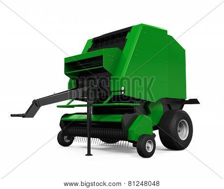 Agricultural Baler Isolated