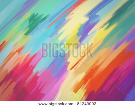 Digital Painting Abstract Background