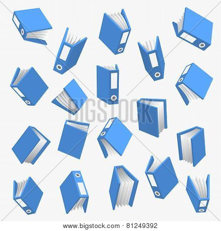 Folder with paper over white background