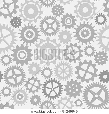 Gear wheels seamless pattern