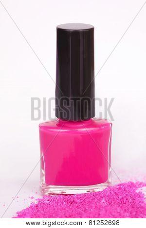 Nail Polish And Powdery Eye Shadow
