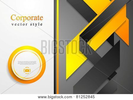 Abstract corporate tech flyer design. Vector background