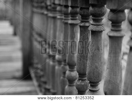 Thailand Traditional Wooden Banister