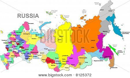 Russian federatrion map