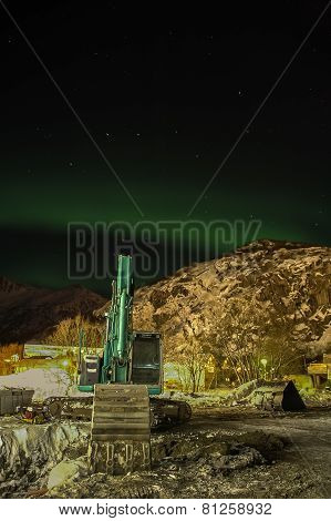 northern lights in sky at Norway