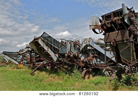 Old threshing machines