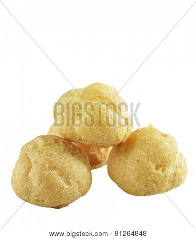 Cream Puffs Isolated  On White Background