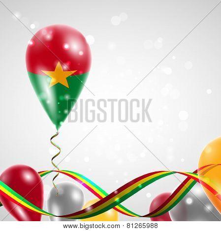 Flag of Burkina Faso on balloon