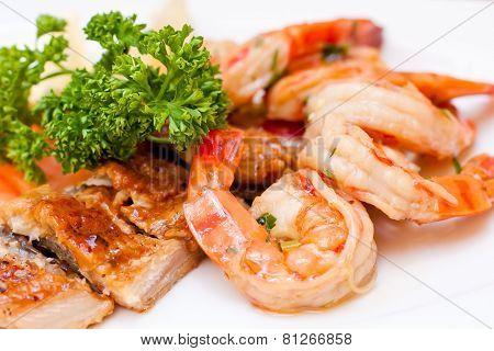 Seafood. Fish Platter