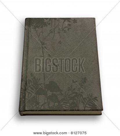 Closed Grey Velveteen Notebook