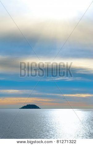 Small Island In The Sea.
