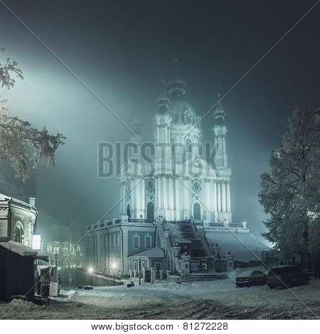 Church Of St. Andrew, Winter Evening