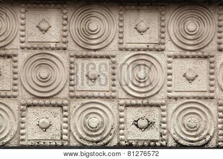Art Nouveau pattern in Hradec Kralove, East Bohemia, Czech Republic.