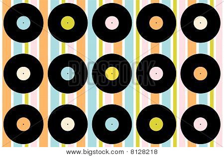 Vintage Vinyl Record Wallpaper