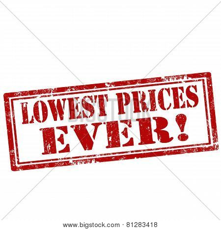 Lowest Prices Ever!-stamp