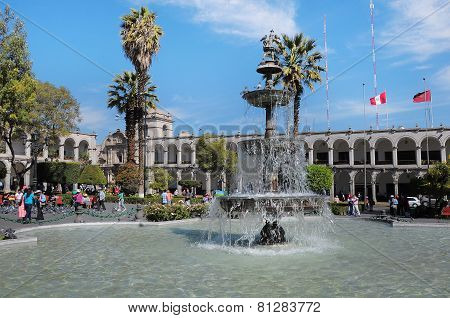 Plaza de Armas, Arequipa, Peru.