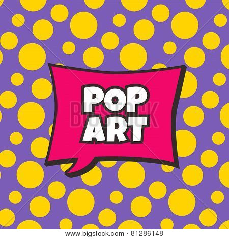 pop art retro theme