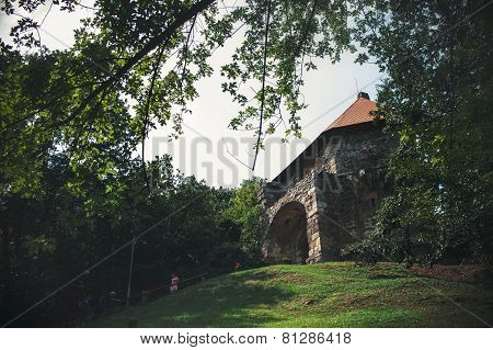 Tower Of Fortress In Vysehrad, Hungary