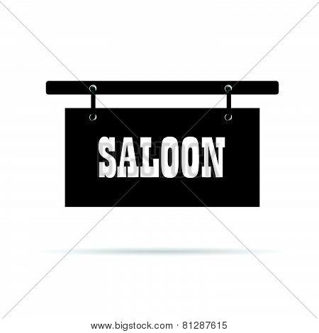 Saloon Wild Signboard Vector