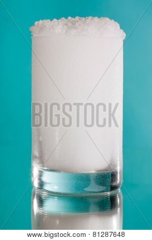 Glass of snow
