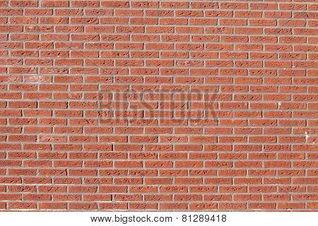 Orange brick wall.