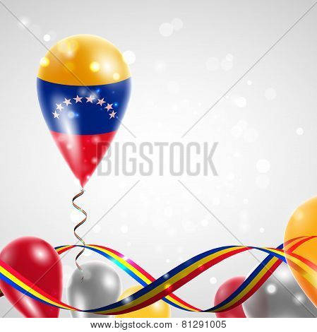 Flag of Venezuela on balloon