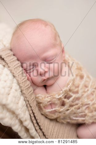 Newborn Sleeping On Chair