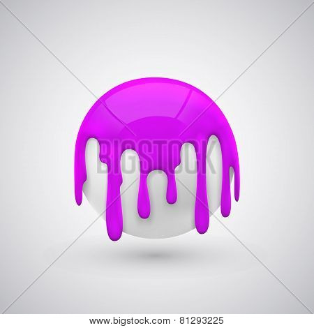ball with paint drops Purple.