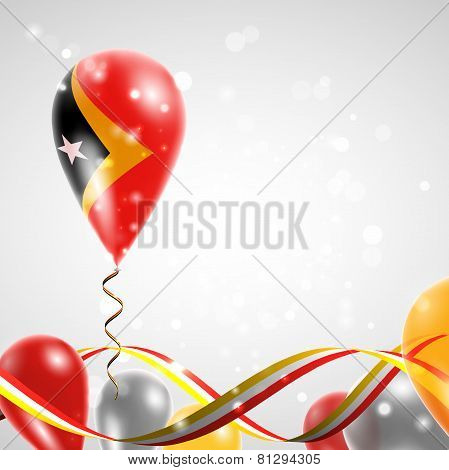 Flag of East Timor on balloon
