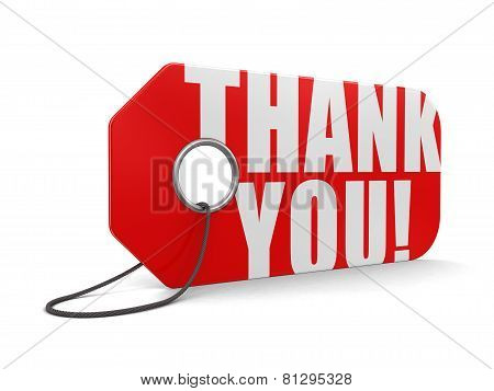 Label Thank You (clipping path included)