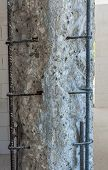 pic of pilaster  - Concrete structure deteriorated and cracked by corroded rebars.