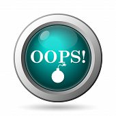 stock photo of oops  - Oops icon - JPG