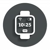 Постер, плакат: Smart watch sign icon Wrist digital watch
