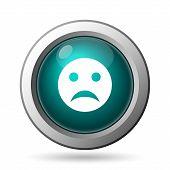 stock photo of angry smiley  - Sad smiley icon - JPG