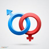 stock photo of bisexual  - Vector of male and female symbol - JPG