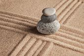stock photo of calming  - Japanese Zen stone garden  - JPG