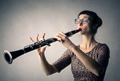 foto of clarinet  - Clarinet player  - JPG