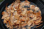 stock photo of ribs  - soak wood chunks or chips - JPG