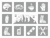 foto of winter-sports  - Winter sports flat icons set graphic illustration design - JPG