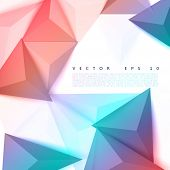 stock photo of polygon  - Vector background abstract polygon triangle - JPG