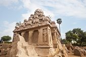 stock photo of tamil  - Shore temple Mahabalipuram  - JPG